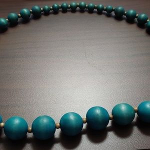 Jewelry - Large blue-beaded necklace